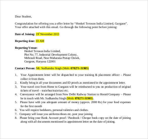 Offer Letter Template 54 Free Word PDF Format Free Premium