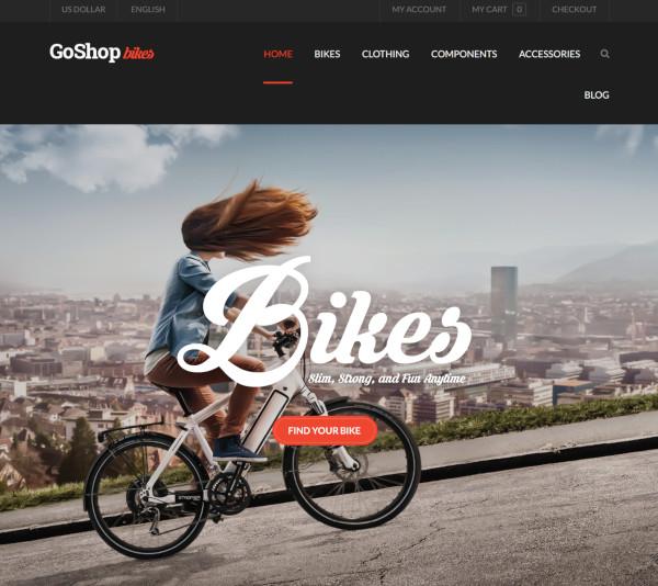 bike shop premium opencart theme