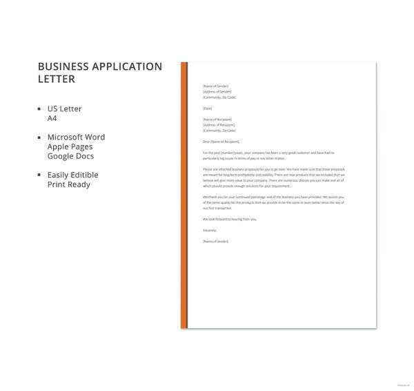 25 business letter templates pdf doc psd indesign free business application letter format fbccfo Image collections