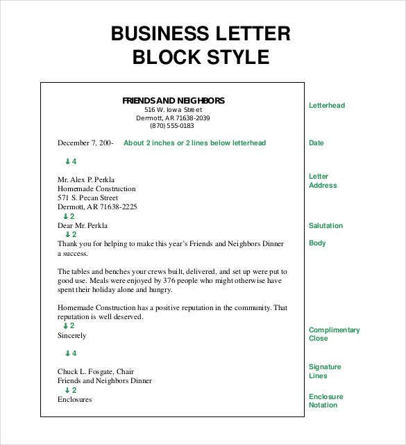 Business Letter Template   Free Sample Example Format  Free