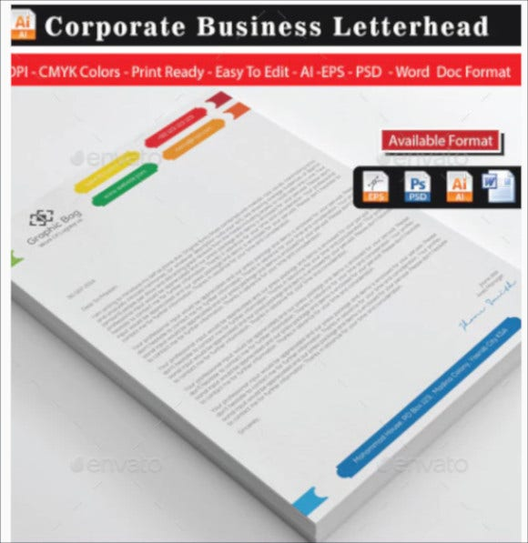 business letterhead design template