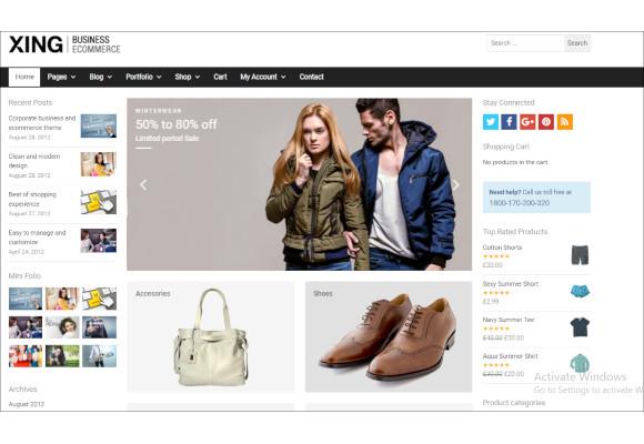 business ecommerce wordpress website template