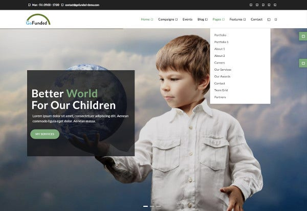 church crowdfunding fund raising drupal theme