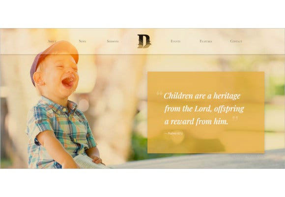 church non profit and charity events bootstrap html template