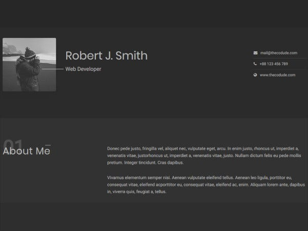 clean resume html5 template