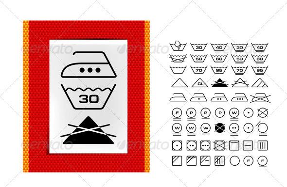 clothing labels washing symbols