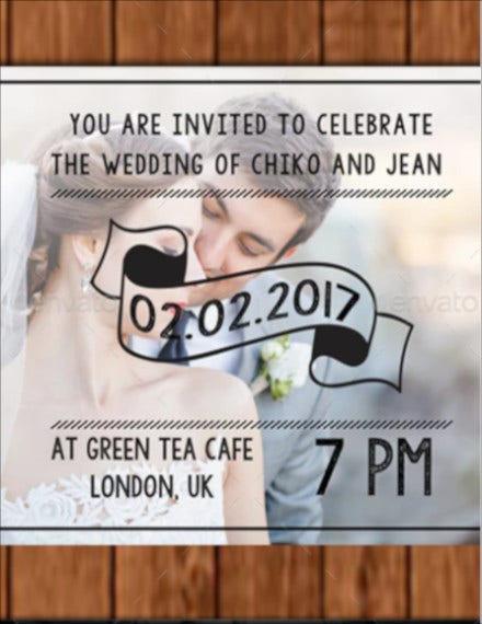 colorful photo wedding invitation example