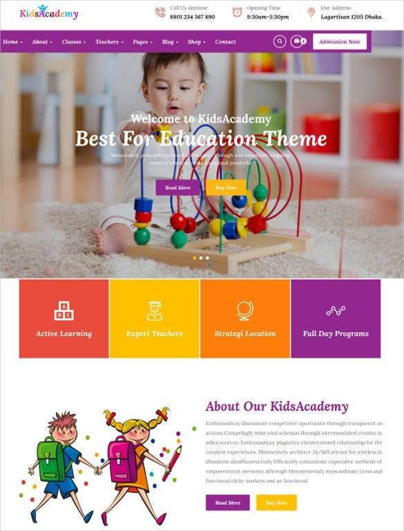 cool-html-education-google-website-theme