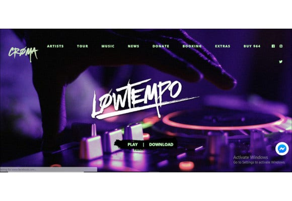 croma music wordpress theme with ajax