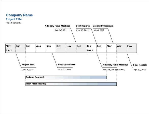 download the project timeline example