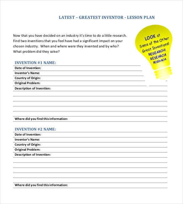 downloadable latest lesson plan