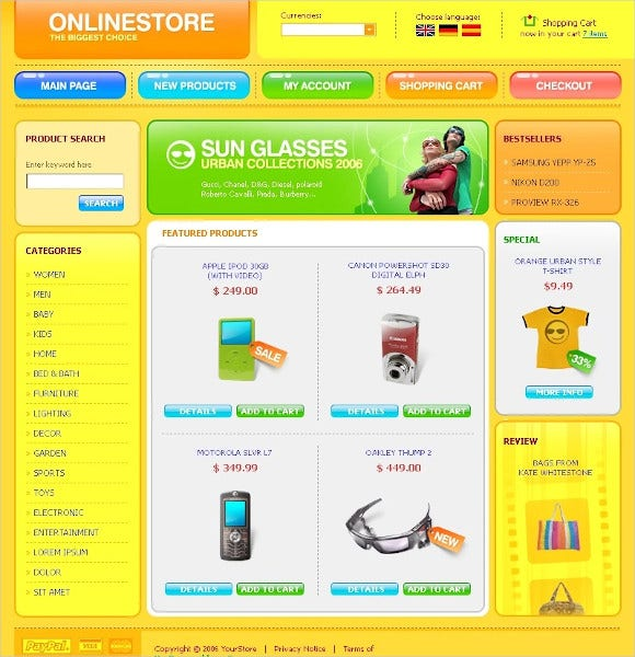 electronics-store-oscommerce-template