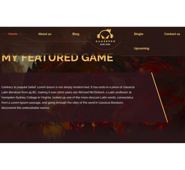 fantastic gaming blog wordpress theme