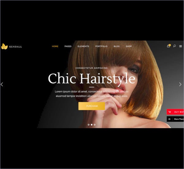 fashion beauty salon website template