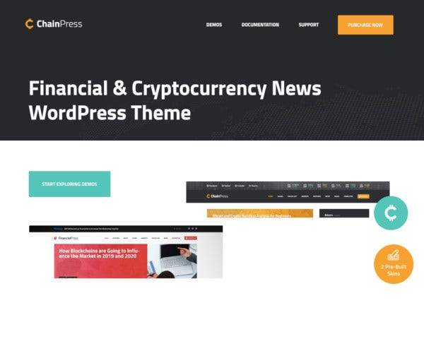 financial wordpress business blog theme