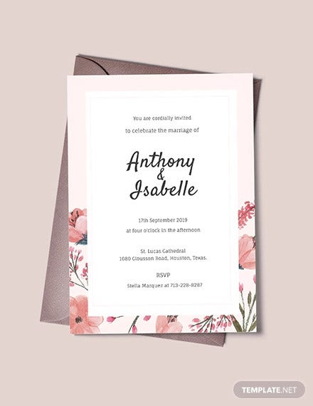free blank wedding invitation template1