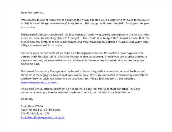 free budget cover letter download