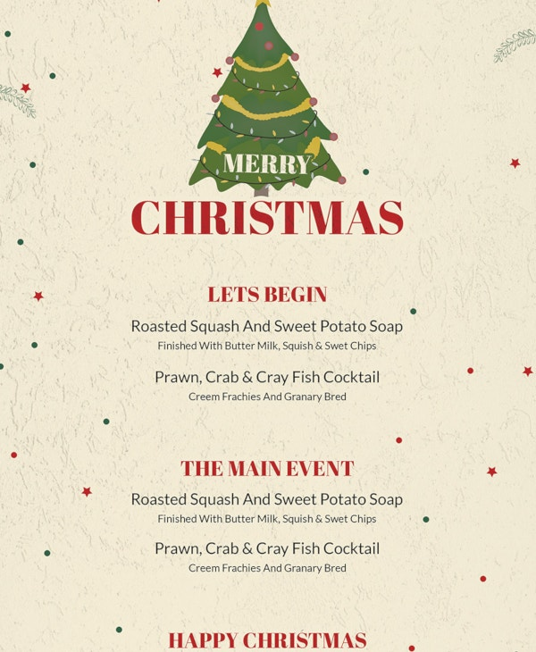 free-christmas-drinks-menu-template