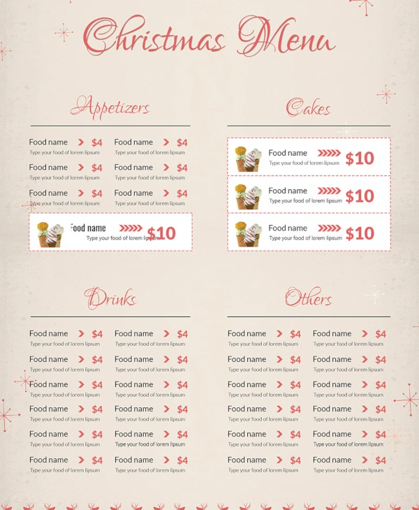 free-christmas-menu-card-template