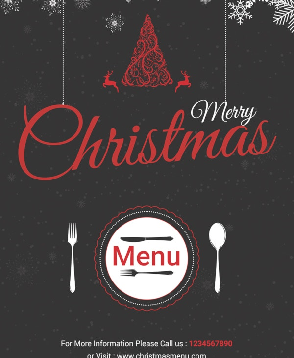 35 sample christmas menu templates psd doc apple pages free
