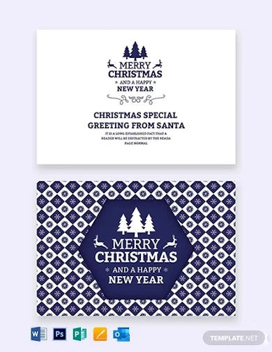 free christmas and new year card template