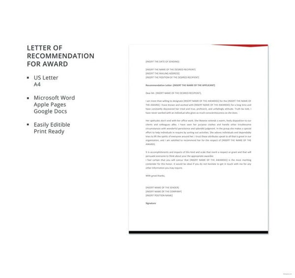 free-letter-template-of-recommendation-for-award