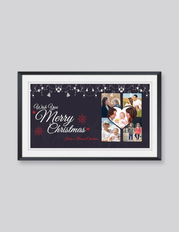 free merry christmas card template