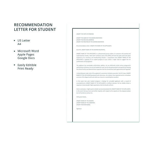 Letters Of Recommendation For Scholarship 29 Free Sample Example