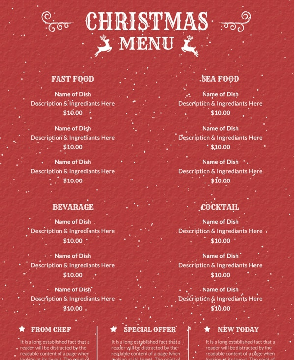 free-retro-christmas-menu-template