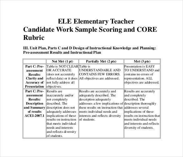 free-rubrics-for-elementary-teachers