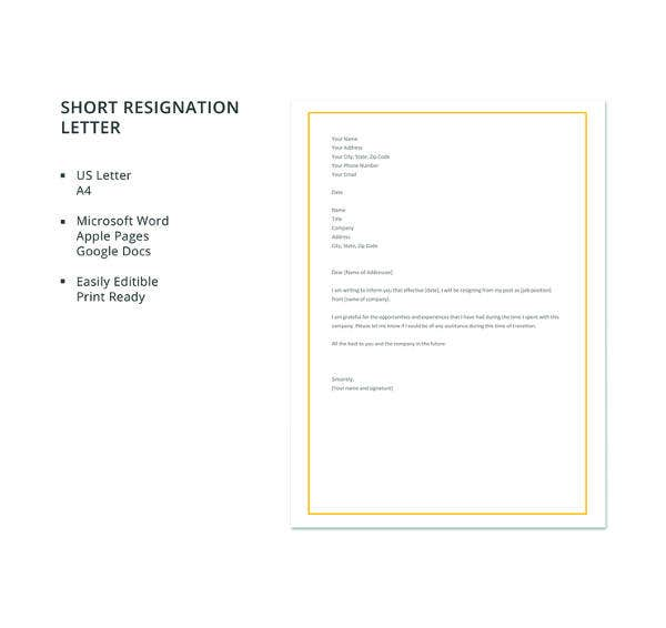 17+ Employee Resignation Letter Templates