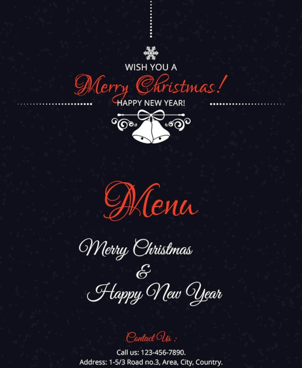 free-simple-christmas-menu-card-template