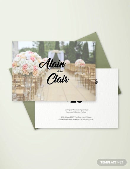 85+ Wedding Invitation Templates - PSD, AI | Free & Premium