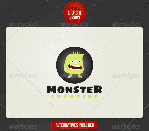 funny monster logo