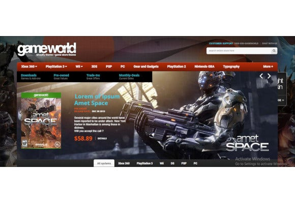 game store shopify theme