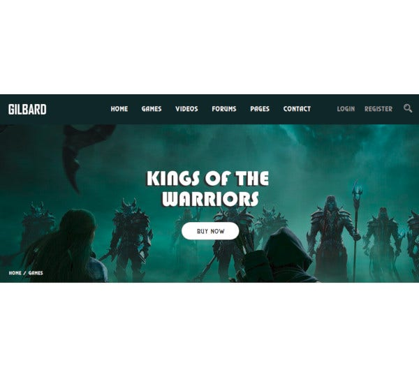 gaming bootstrap 4 template