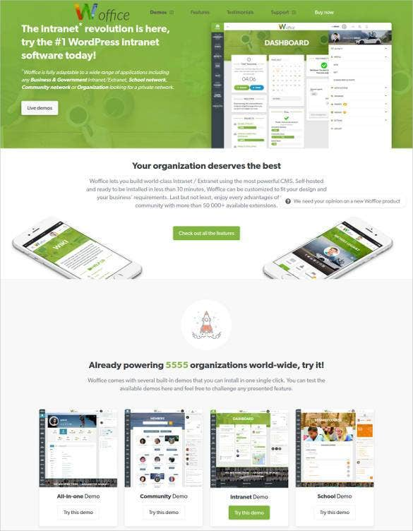 google intranet wordpress website theme1