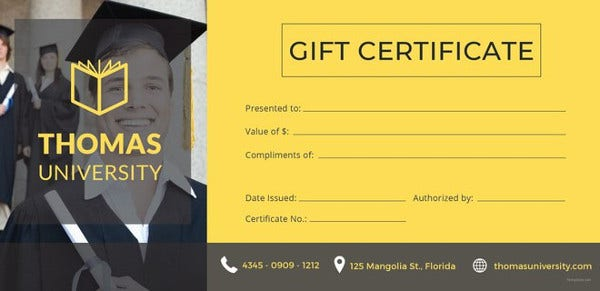 best gift certificate templates