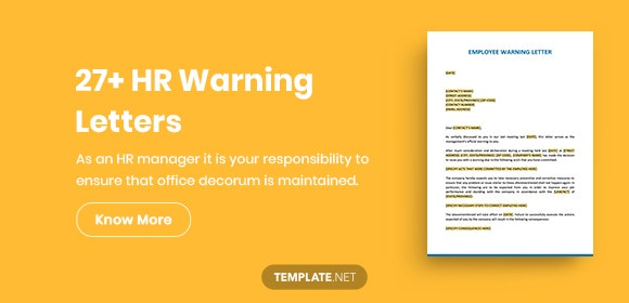 27+ HR Warning Letters - PDF, DOC, Apple Pages, Google Docs | Free