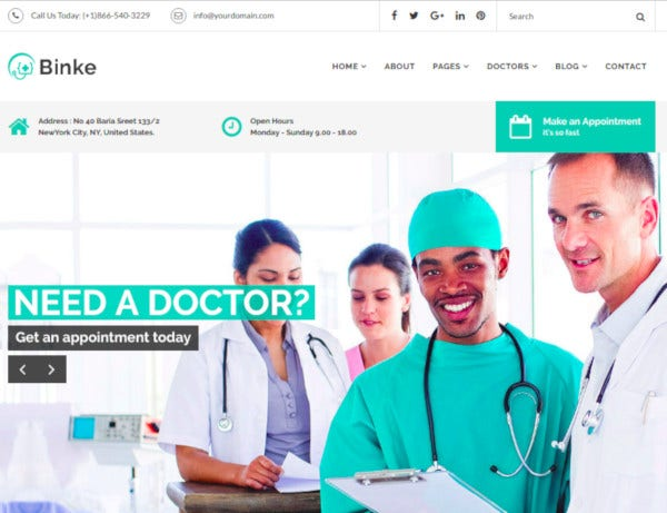 health medical bootstrap 4 templat