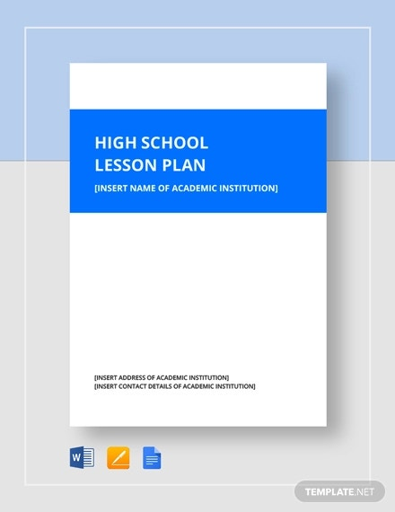 high school lesson plan template1