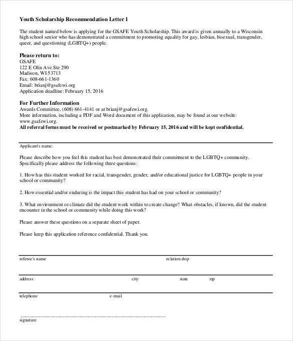 29 letters of recommendation for scholarship pdf doc free high school letter of recommendation for scholarship gsafewi details file format spiritdancerdesigns