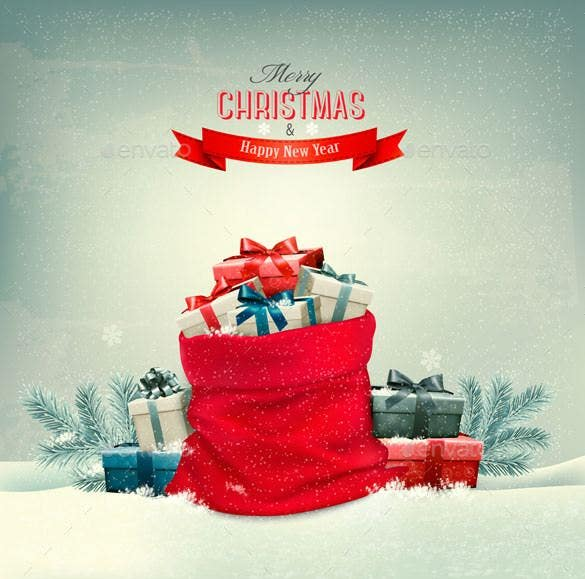 holiday christmas background with a sack eps forma1