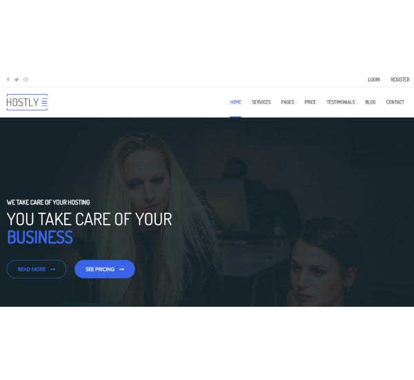 hosting responsive html5 template