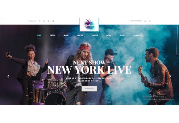 hyphoria rock band wordpress theme