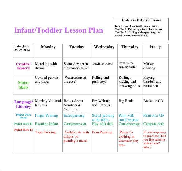infant toddler lesson plan1