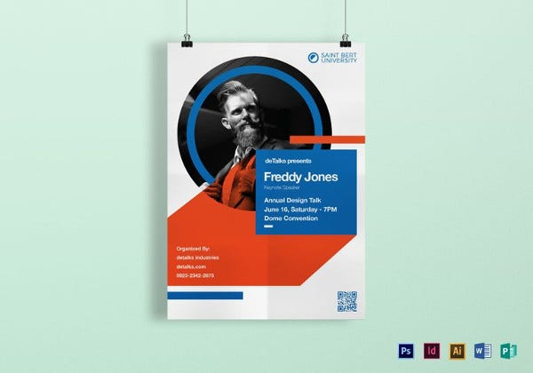 keynote speaker poster template