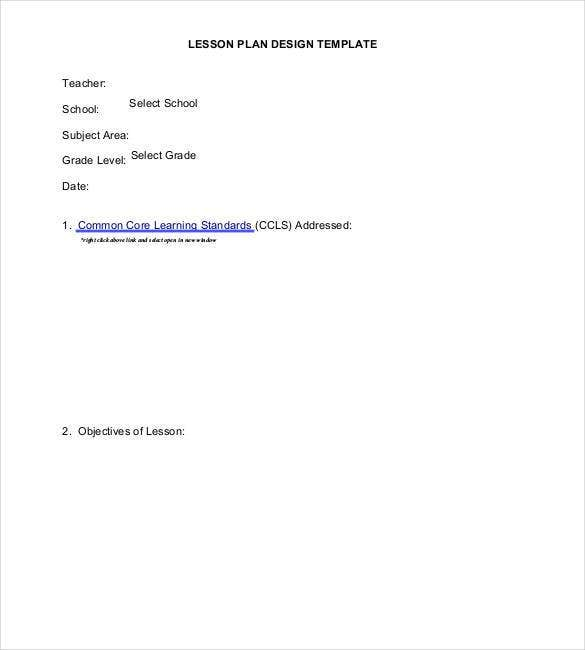 lesson plan design template1
