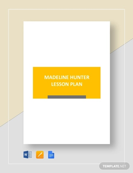 madeline hunter lesson plan template1