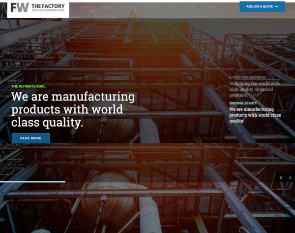 manufacturing factory industrial business wordpress theme